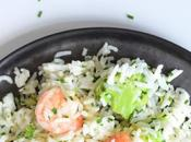 Garlic Prawn Rice with Broccoli