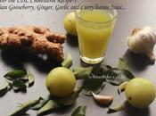 Indian Gooseberry(Amla), Curry Leaves, Ginger Garlic Juice- Juice Lower Your Cholesterol, Hair Tonic