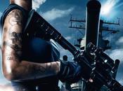 Rihanna Rocks Battleship Poster with Tattoo Covered, Holding Machine Pose
