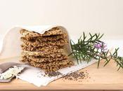 Rosemary, Chia Parmesan Crackers