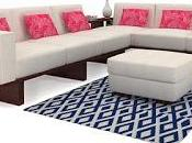 L-Shaped Sofa Adding Sedate Ambiance