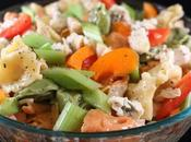 Colorful Artisan Inspired Tortellini Chicken Picnic Salad
