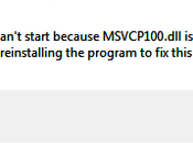 Fixing Msvcp100.dll Error
