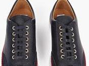 Classics Navy: Thom Browne Leather Suede Sneakers