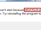 Specific MSVCR120.dll Error Message