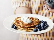 Pancakes with Savory Cream-Cheese Topping