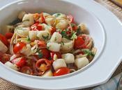 Beach Eats: Scalloping Joseph Scallops with Tomato Fennel Over Skinny Spaghetti