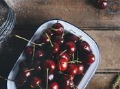 Cherry with Whole Grain Basil Flower Crust