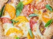 Mozzarella Heirloom Tomato Galette with Parmesan Crust (Gluten Free Grain Free)