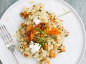 Risotto with Rosemary Infused Chanterelles, Apricots Goat Cheese