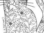 Cat: Free Colouring Page