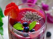 Strawberry Blueberry Smoothie Recipe(Vegan)