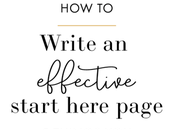 Write Effective Start Here Page