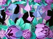 Paper Flower Chandelier Using Origami Techniques Heidi Swapp Inspired