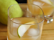 Bourbon Pear Cocktail with Maple Ginger Syrup