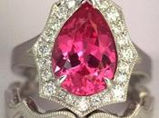 2.15 Carats Mahenge Spinel Scalloped Halo Ring
