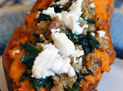 Stuffed Sweet Potatoes with Sausage Kale
