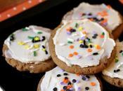 Vegan Frosted Pumpkin Sugar Cookies