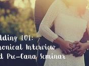 Wedding 101: Canonical Interview Pre-Cana Seminar