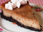 Vegan Peanut Butter Cheezecake with Chocolate Brownie Crust