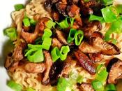 Noodles with Shiitake Mushrooms VeganMoFo 2016