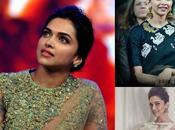 Deepika's High Neck Saree Blouse Designs