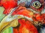 Cockadoodle Gelli Print Painting