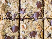 Pumpkin Oatmeal Scotchie Bars with Chocolate Chips Pecans