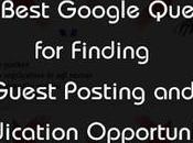 Best Google Queries Finding Guest Posting Content Syndication Opportunities 2017