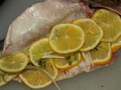 Roasted Branzino Stuffed with Leeks Meyer Lemons
