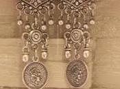 Silver Coin Hoop Earrings from Delhi Haat (Rs.200)