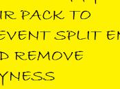 Hair Pack Prevent Split Ends