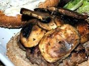Grilled Mediterranean Mushroom, Beef Feta Cheese Burger