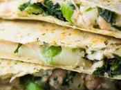 Smashed White Bean & Spinach Quesadillas (Freezer Friendly)