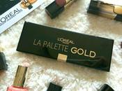 #LorealParis Palette Gold Eyeshadows Review Swatches