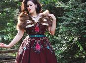 eShakti Dress, Vintage Hair, Elizabeth Taylor Vibes