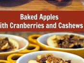 Sweet Tender Baked Apples with Cranberries Cashews