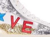 Festive Love: Saint Laurent White 'Love' SL/06M Court Classic High-Top Sneakers