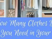 Many Clothes Need Your Wardrobe?