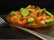 Salade Poivrons Rotis, Concombre Tomates Roasted Pepper, Cucumber Tomato Salad /ensalada Pimientos Asados, Pepino سلطة الفلفل المشوي الخيار والطماطم