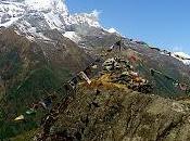 Three Trekkers Walk Length Great Himalaya Trail