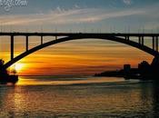 Sunset Behind Arrábida Bridge, Porto