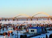 Harbin's Frozen Riverside...