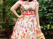Veggie Print Dress, Vintage Purse, Perfect Yellow