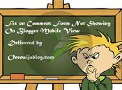 Comment Form Showing Blogger Mobile View