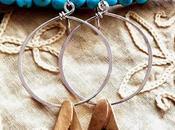 Flower Bell Earrings Bronze & Sterling Almos...