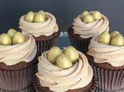 Chocolate Caramel Golden Cupcakes