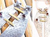 Rhodolite Garnets with Gold Sterling Silver Brooch...