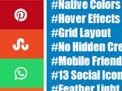 Stylish Social Icons Plugin Your Blog!