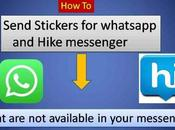 Send Attractive Stickers Whatsapp Hike Messenger Surprise Your Friends